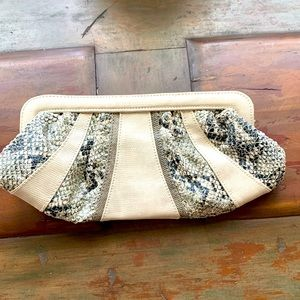 French Connection snakeskin clutch